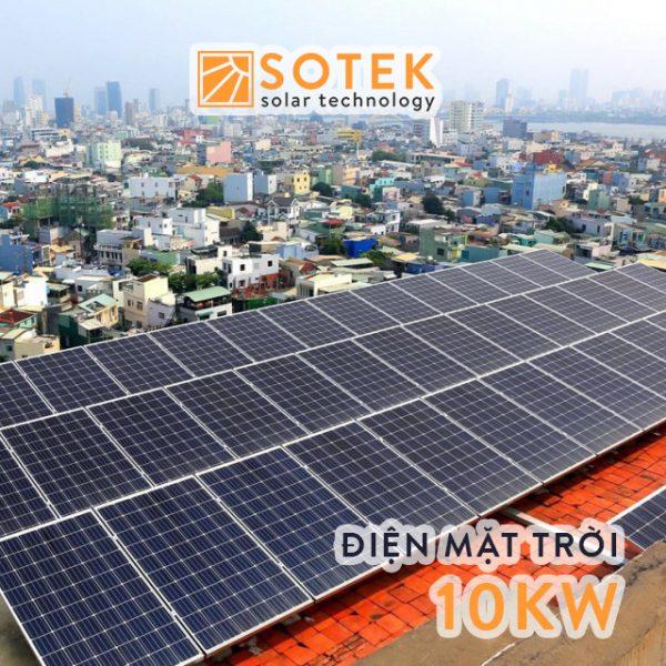 Chi phí lắp điện mặt trời mái nhà 10kw