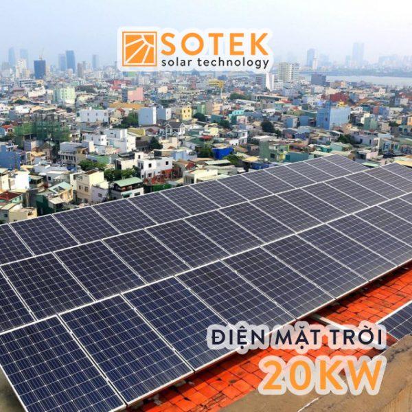 Chi phí lắp điện mặt trời mái nhà 20kw