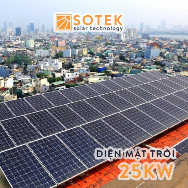Chi phí lắp điện mặt trời mái nhà 25kw