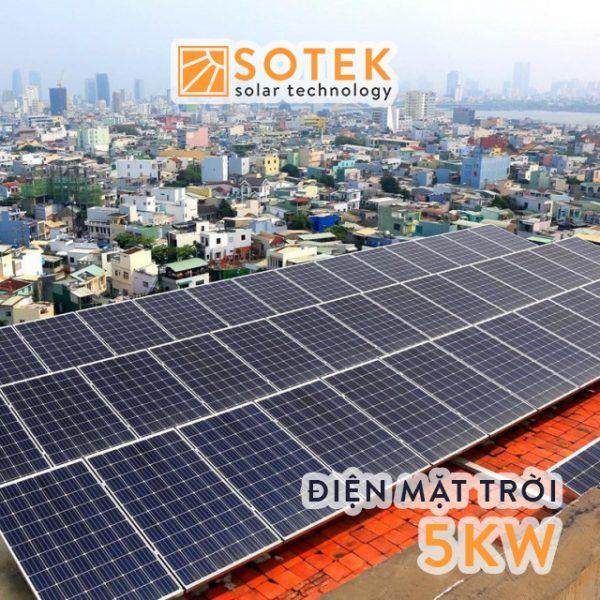Chi phí lắp điện mặt trời mái nhà 5kw