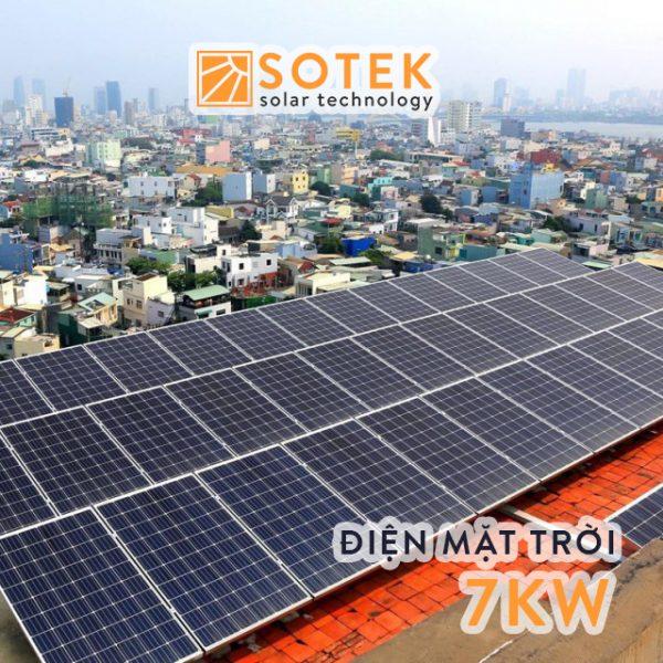 Chi phí lắp điện mặt trời mái nhà 7kw